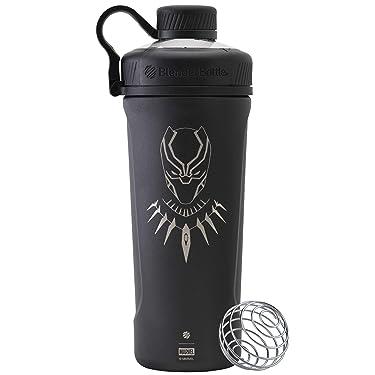 BlenderBottle Marvel Comics Radian Insulated Stainless Steel 26-Ounce Shaker Bottle, Black Panther