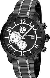Pierre Cardin Pantin Black Mb Ipb 2T Swiss Made - PC106351S10-Black - stainless-steel-Round - 44 mm