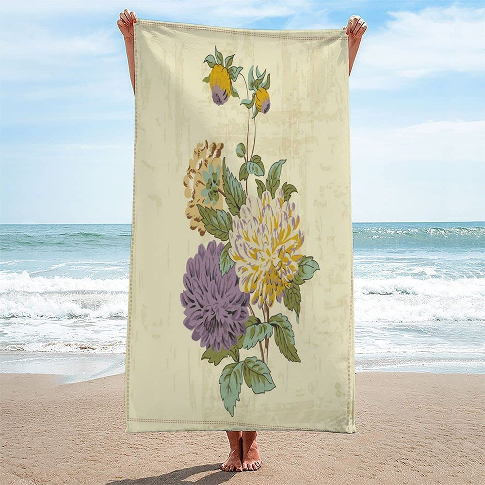Max 53% OFF Vintage Flower Background Towel Fashion 30x60 Absorbent Soft and Dry Fa