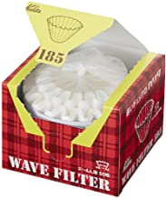 "Kalita"" Filters Kwf-185 Pack Of 50 Sheet White Convenient Box Type For Taking Out And Storing 22210 (Japan Import) (185(2 ..."