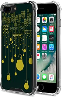 for iPhone 7 Plus Case/iPhone 8 Plus Case - MoKo Rigid Shock Absorption Slim Clear Cool Pattern Case Protective Anti-Scratch Hard Back Cover Fits iPhone 7 Plus / 8 Plus, City Night View