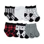 Newborn Baby Boy Bright Colorful Cotton Rich Socks 0-24 Months Zoo//Tractors