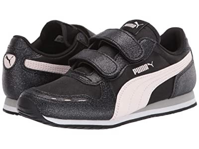 Puma Kids Cabana Racer Glitz V (Little Kid) (Black/Rosewater/White) Girls Shoes