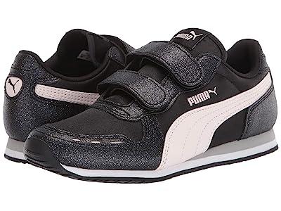 PUMA Kids Cabana Racer Glitz V (Little Kid) (Black/Rosewater/White) Girls Shoes