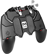 DELAM Mobile Game Controller with L1R1 L2R2 Triggers, PUBG Mobile Controller 6 Fingers Operation, Joystick Remote Grip Sho...