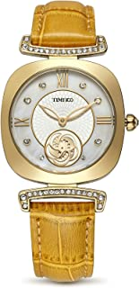 Time100 Women's WatchesBracelet Alloy Plating Case Leather Band Buckle Button Watches Wrist Watches for Women