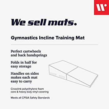 We Sell Mats Gymnastics Incline Mat, Folding and Non-Folding Cheese Wedge Skill Shape, Tumbling Mat for Gymnastics Tr...