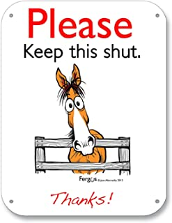 Fergus Stall/Barn Sign Keep Shut