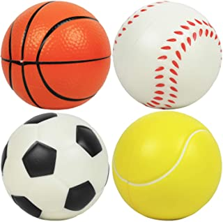"""Kiddie Play Set of 4 Balls for Toddlers 1-3 Years 4"""" Soft Soccer Ball for Kids"""