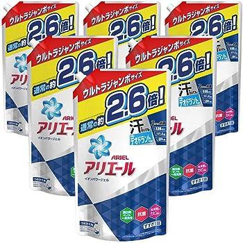 アリエール 液体 抗菌 洗濯洗剤 詰め替え 約2.6倍分(1.9kg)×6袋