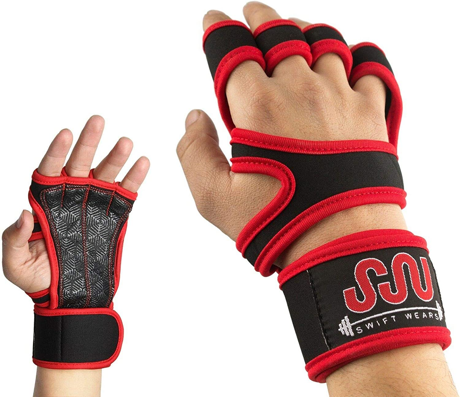 Fitness Gloves Weight Lifting Gym 5 ☆ very popular Workout St Wrist NEW before selling Training Wrap