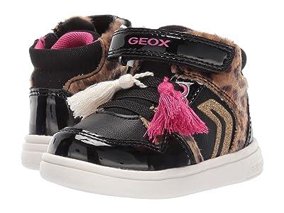 Geox Kids Djrock 29 (Toddler) (Black/Cognac) Girls Shoes