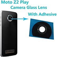 Alovexiong Back Rear Camera Really 100% True Glass Lens Cover + Adhesive Fix Repair Replacement Parts for Motorola Moto Z2 Play
