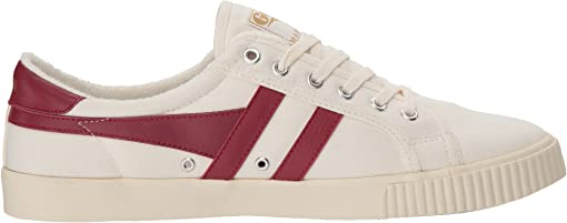 Off-White/Deep Red