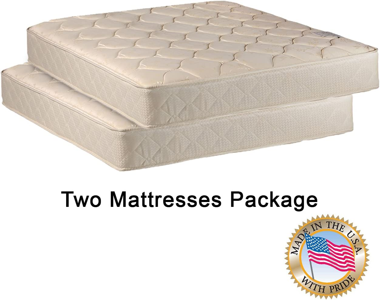 Amazon Com Two Twin Mattresses Package For Bunk Bed Or Trundle Bed Kitchen Dining