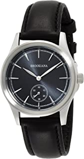 [ブルッキアーナ]BROOKIANA スモールセコンド ブラック×ブラックレザー BA2307-SBLBK メンズ 腕時計