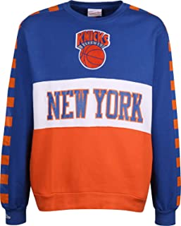 Leading Scorer Crew NY Knicks Sudadera de Forro Polar Royal/Orange