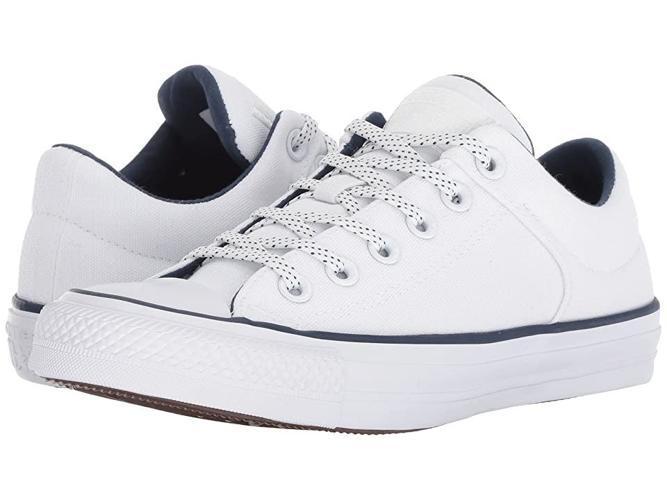 Converse Chuck Taylor(r) All Star(r) High Street Ox (White/Navy/White) Shoes