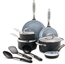 GreenLife CC001581-001 Classic Pro Healthy Ceramic Nonstick, Cookware Pots and Pans Set, 12 Piece, Dark Gray