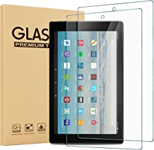 [2 Pack] Glass Screen Protector For Amazon Fire HD 10 (2019/2017), Epicgadget Fire HD 10 / Fire HD 10 Kids Edition Tempere...