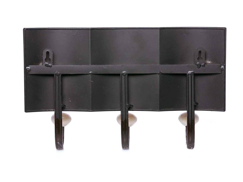 180 x 34 x 34 cm Perchero Pie para Oficina Recibidor y Dormitorio Madera y Metal Negro Relaxdays 6 Colgadores