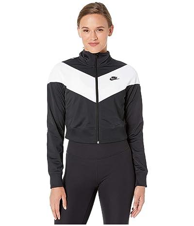 Nike NSW Heritage Track Jacket Poly Knit (Black/White/Black/Black) Women