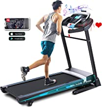 ANCHEER Treadmill, 3.25HP APP Treadmills for Home with 0-15 Automatic Incline, 300LBS Capacity Walking Running Machine and...