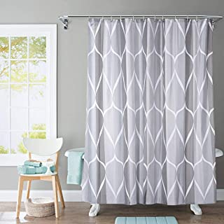 EiioX Shower Curtain Polyester Fabric Machine Washable with 12 Hooks 72x72 Inch