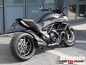 Ducati Diavel 2011-2014 Zard Exhaust Silencer Black/Black Cap Muffler Road Legal