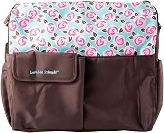 Luvable Friends Diaper Tote Bag Large Brown 11030874_Brown