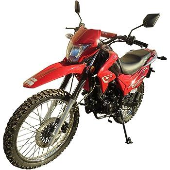 250cc Dirt Bike Hawk 250 Enduro Street Bike Motorcycle Bike(Red)