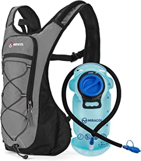 MIRACOL Hydration Backpack with 2L BPA-Free Bladder Lightweight Hydration Pack for Running Hiking Climbing Biking Cycling ...