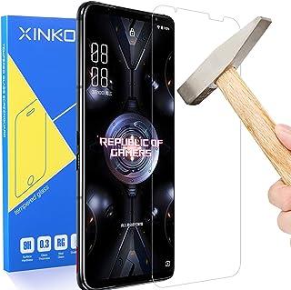 واقي شاشة زينكوي [قطعتين] لهاتف اسوس روج 5، واقي شاشة فائق النحافة عالي الدقة 2.5D برو فيت- شفاف