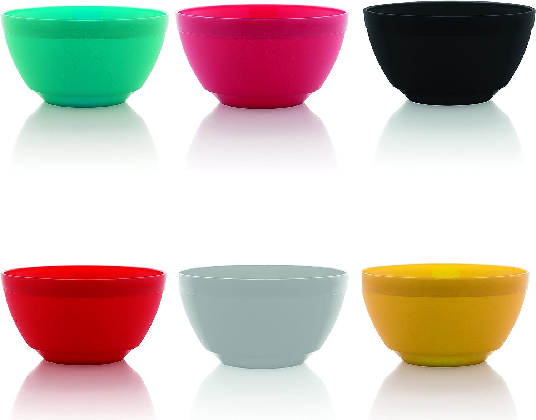 Ou Cheap bargain Premium Design- Unbreakable Luna Bowls Set of 6 17 oz Asso Super Special SALE held
