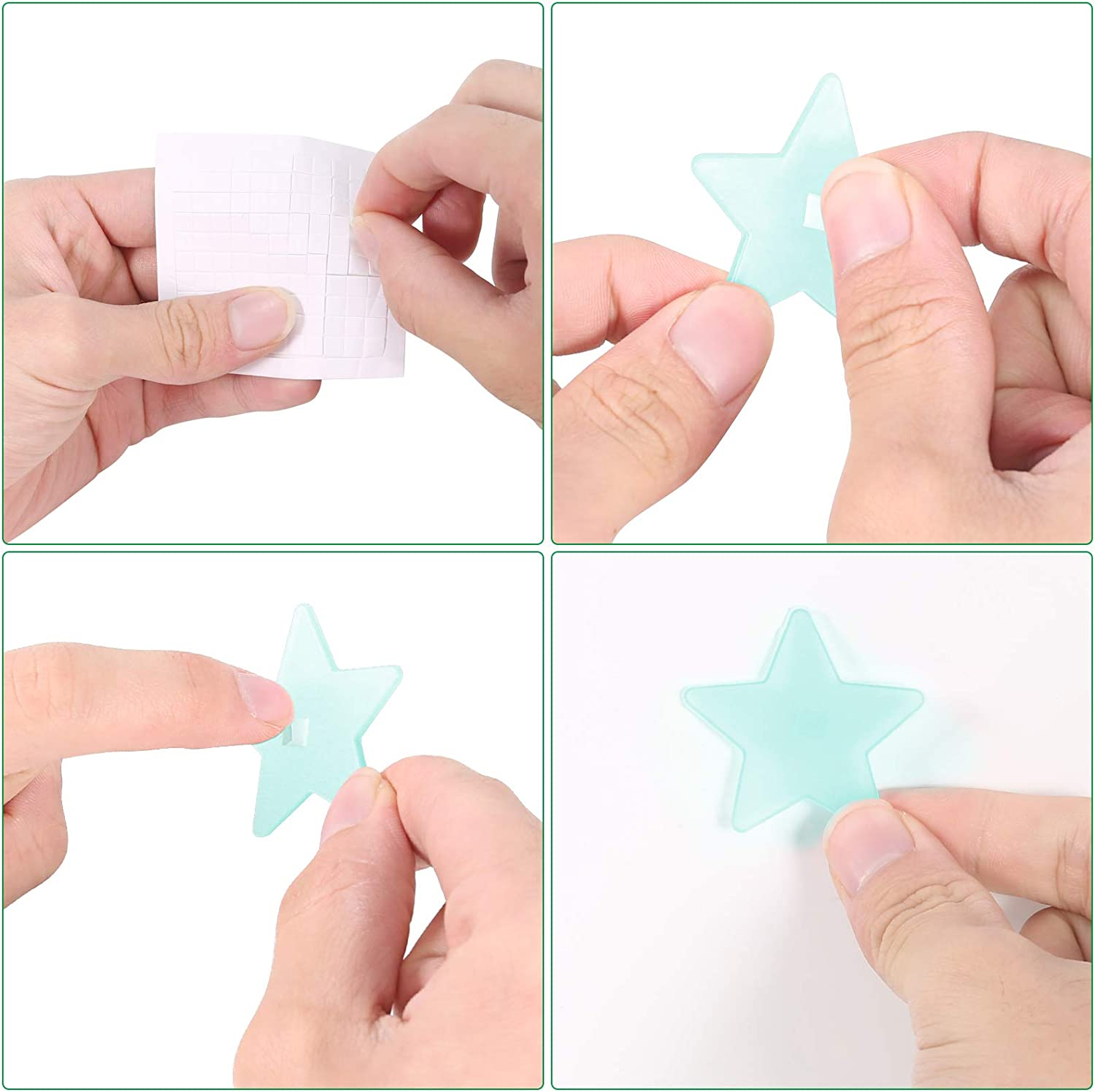 Blue Majome 201 PCS Stars for Ceiling Glow in The Dark Stars Glow in The Dark Stickers for Kids Bedroom and Living Room Decoration. Safety Material Sustainable Shine