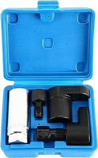 8MILELAKE 5pcs Oxygen Sensor Socket/ 5pc Thread Chaser Install Offset O2 Wrench Set