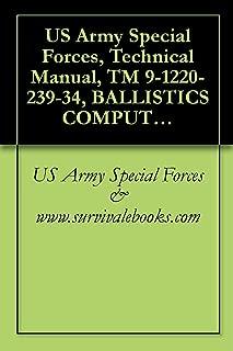 US Army Special Forces, Technical Manual, TM 9-1220-239-34, BALLISTICS COMPUTER, XM21, NSN 1220-00-348-8437, 1980
