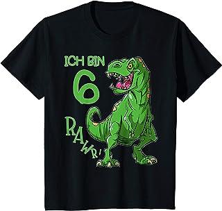 Kinder Ich bin 6 Geburtstag - cooles Jungen Dino T-Rex Dinosaurier T-Shirt