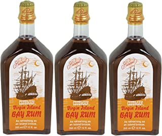 CLUBMAN PINAUD Virgin Island Bay Rum Men After Shave Cologne 12 oz 3 x BB-402100