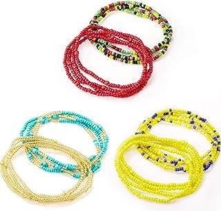 Norme Summer Jewelry Waist Bead Set, Colorful Waist Bead, Belly Bead, African Waist Bead, Body Chain, Beaded Belly Chain, Bikini Jewelry for Woman Girl