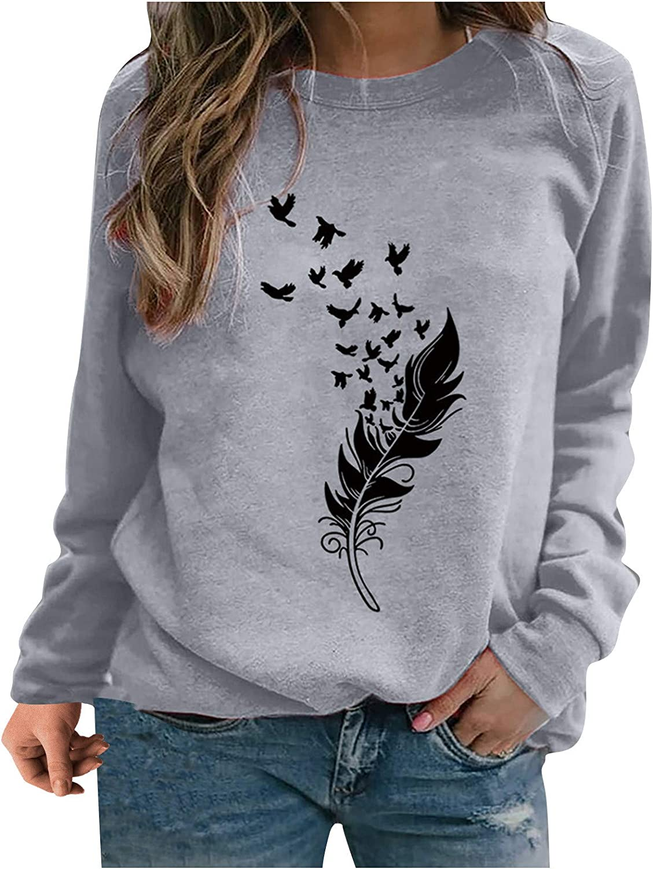 Womens Long Sleeve Tops,Womens Oversized Sweatshirts Crewneck Vintage Long Sleeves Tie Dye Print Fashion Pullover