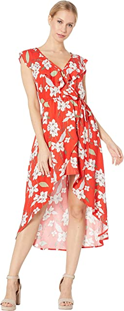 Giuld the Lily Printed Wrap Dress