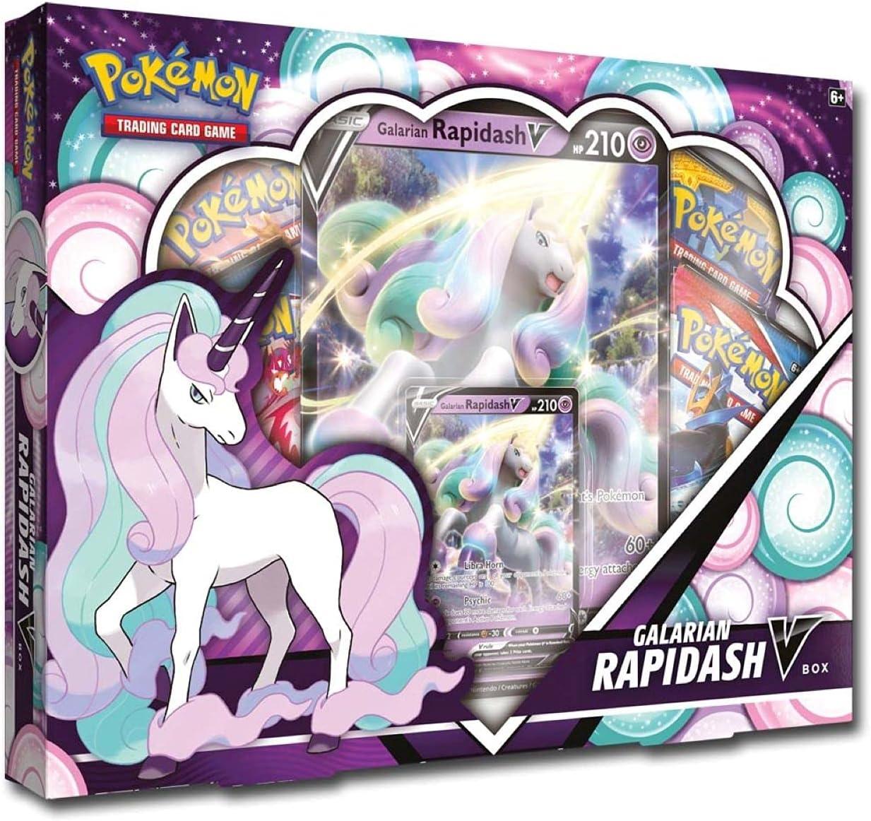 Pokémon TCG: Galarian Rapidash V Box 6. V Battle Decks, Multicolor