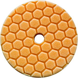 Chemical Guys BUFX112HEX6 Hex-Logic Quantum Medium-Heavy Cutting Pad (Orange, 6.5 Inch)