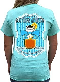 Sweet Tea Sea Foam Green Short Sleeve Shirt