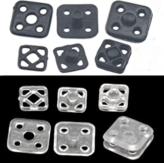 Bluemoona 60 Sets - 10mm Plastic Poppers Press Studs Sew On Fastener Button Snaps Sewing Fitting Clear