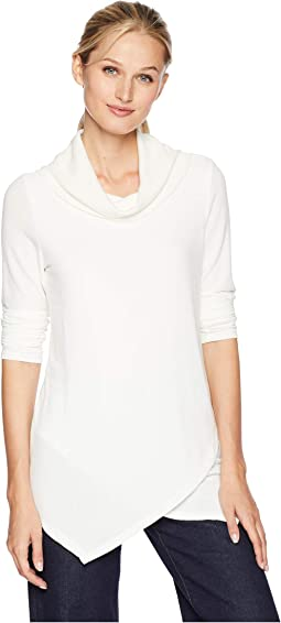 Long Sleeve Mix Media Top