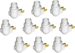 Plug in Night Light Module, White Plastic, Great for Making Your Own Decorative Night Lights, Pack of 10