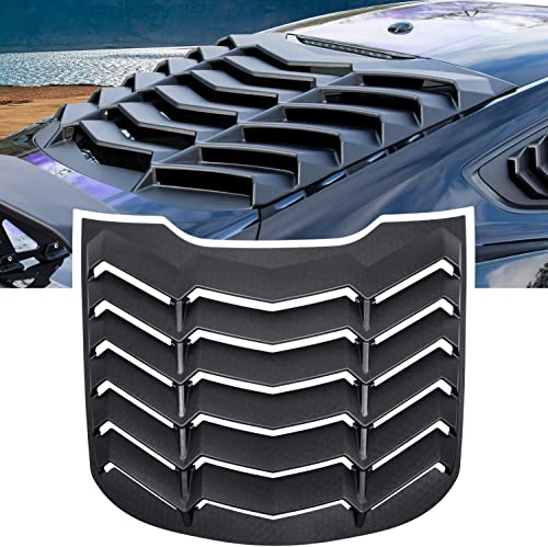 E-cowlboy Rear Window Louver Windshield Sun Shade Cover GT Lambo Style for Ford Mustang 2015 2016 2017 2018 2019 2020...