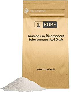 PURE Ammonium Bicarbonate (11 oz.), Traditional Leavening Agent Used in Flat Baked Goods such as Cookies or Crackers